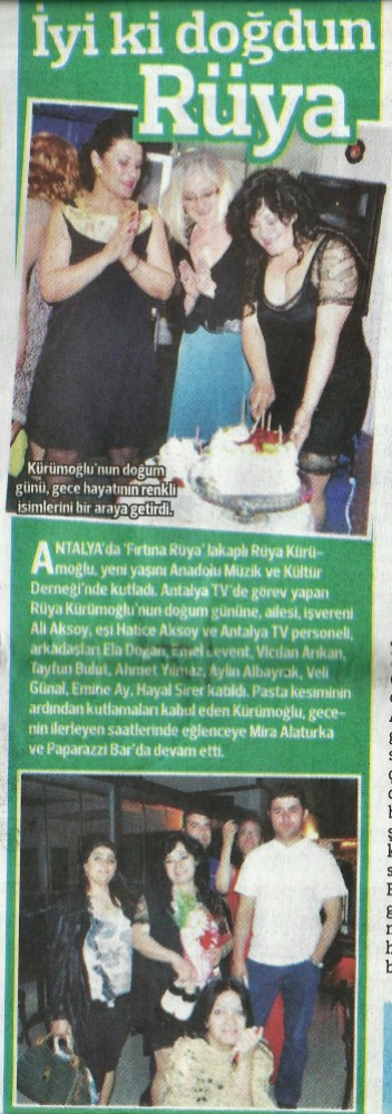 Antalya Magazin Muhabiri - Antalya TV- Doğum Günü