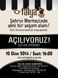 Talya Cafe Bistro- Fidan İlteray- Nuri Alço- Antalya TV- Muhabir Rüya Kürümoğlu ( (2)