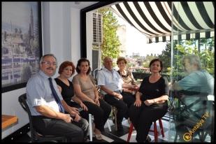 Talya Cafe Bistro- Nuri Alço, Fidan İlteray, Antalya TV, Muhabir Rüya Kürümoğlu (121)
