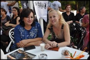 Talya Cafe Bistro- Nuri Alço, Fidan İlteray, Antalya TV, Muhabir Rüya Kürümoğlu (218)