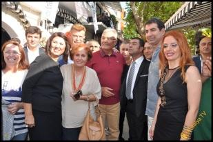 Talya Cafe Bistro- Nuri Alço, Fidan İlteray, Antalya TV, Muhabir Rüya Kürümoğlu (70)