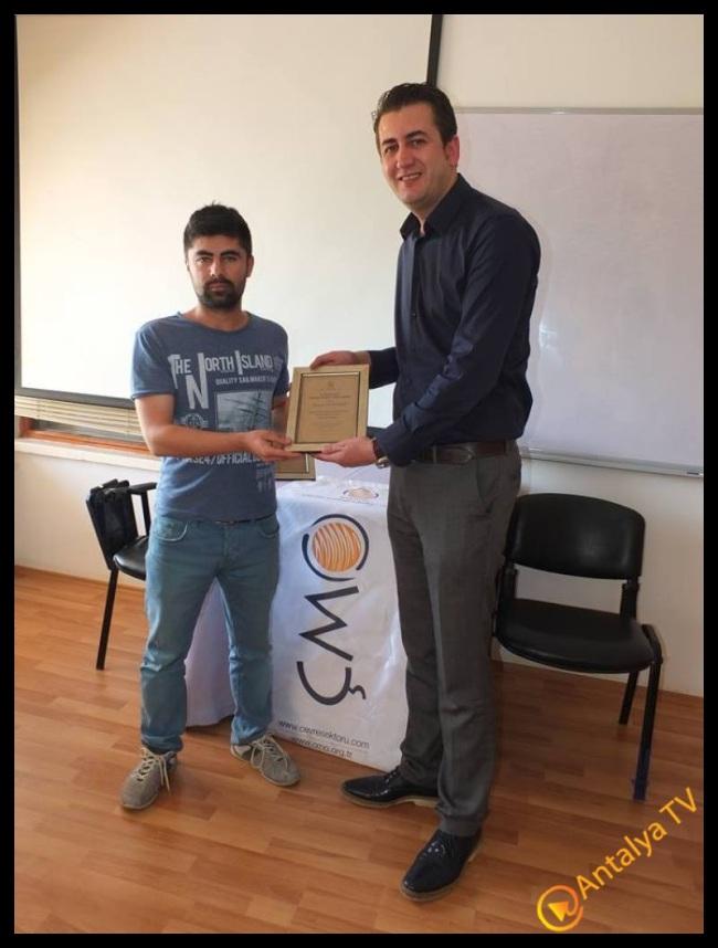 Antalya Gazeteci Mustafa Kahraman  - Çevre Mühendisleri Odası Antalya Şube Başkanı Erdal Özdemir